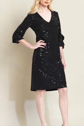 Clara Sunwoo Shimmer Ruffle-Cuff Dress