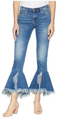 Blank NYC Denim Ruffle Bottom Jeans in X-Factor Women's Jeans