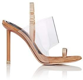 Alexander Wang Women's Kaia PVC & Suede Sandals - Nudeflesh