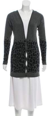 Christopher Kane Animal Pattern Cashmere Cardigan black Animal Pattern Cashmere Cardigan