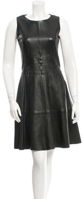 Hugo Boss Leather Knee-Length Dress $145 thestylecure.com