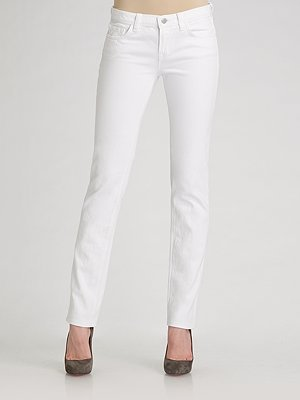 J Brand Skinny-Leg Petite Jeans/White
