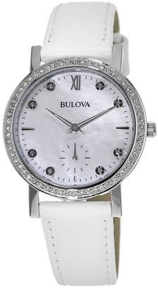 Bulova Women's Crystal Accented Watch, 32mm