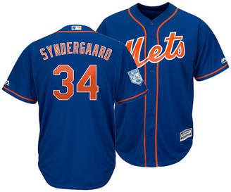 Majestic Men Noah Syndergaard New York Mets Spring Training Patch Replica Cool Base Jersey
