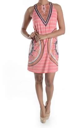 Aryeh Coral Print Dress