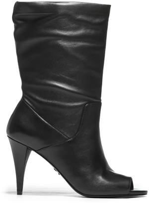 MICHAEL Michael Kors Leather Open Toe Boots