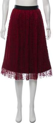 Alice + Olivia Lace Knee-Length Skirt