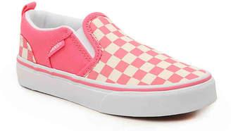 87cb740f1c Vans Asher Toddler   Youth Slip-On Sneaker - Girl s