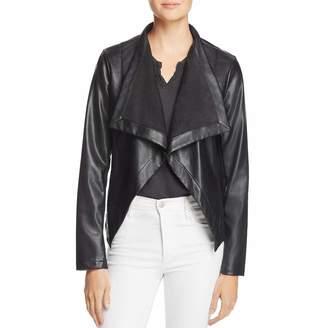 BB Dakota Womens Peppin Fall Faux Leather Jacket L