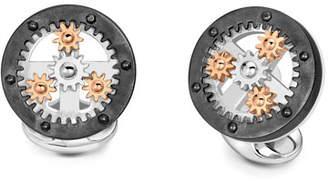 Deakin & Francis Gear Wheel Silver Cuff Links