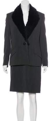 Gianni Versace Wool Skirt Suit