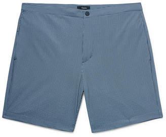 Theory Slim-Fit Mid-Length Printed Swim Shorts