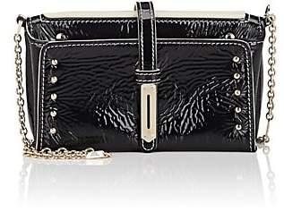 "Fontana Milano Women's ""Mini A"" Patent Leather Crossbody Bag - Black"