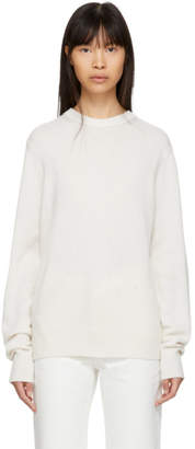 Helmut Lang Off-White Cashmere Crewneck Sweater