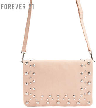 Forever 21 (フォーエバー 21) - Forever 21 フェイクスエードビーズショルダーバッグ