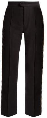 Isabel Marant Philea Crystal Embellished Cropped Trousers - Womens - Black