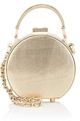 Aspinal of London GILES X Women's Micro Leather Hat-Box Bag - Gold