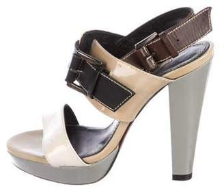 Barbara Bui Patent Leather Platform Sandals