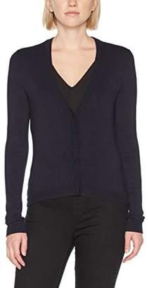 a28eefc7d8 S Oliver BLACK LABEL Women s 11709643073 Long Sleeve Cardigan - Blue - UK