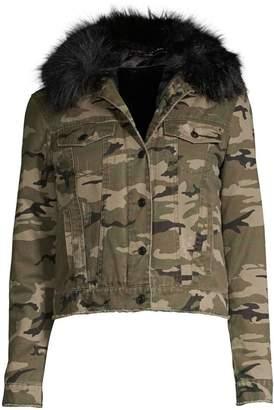 Generation Love Evan Camo Faux Fur Jacket