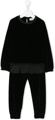 Moncler peplum top and trouser set