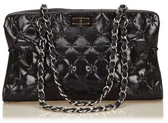 Chanel Vintage Quilted Patent Leather Reissue Chain Shoulder Bag
