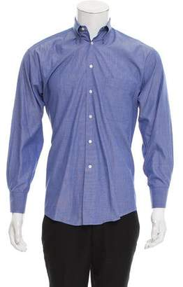 Giorgio Armani Point Collar Button-Up Shirt