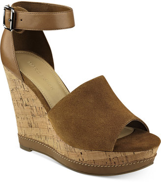 Marc Fisher Hillory Two-Piece Platform Wedge Sandals Women's Shoes $79 thestylecure.com