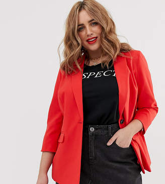 Simply Be tailored blazer in red