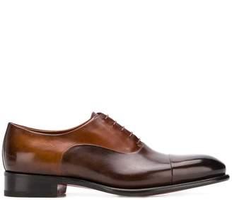 Santoni tonal Oxford shoes