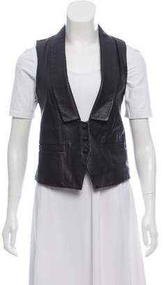 Geren Ford Leather Shawl-Lapel Vest