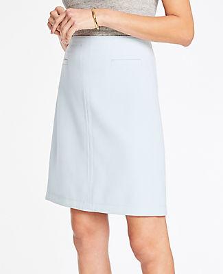 Ann Taylor Doubleweave Pocket Skirt