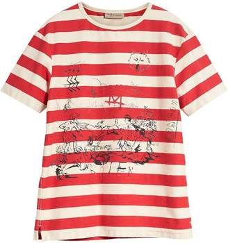 Burberry Adventure Print Striped Cotton T-shirt