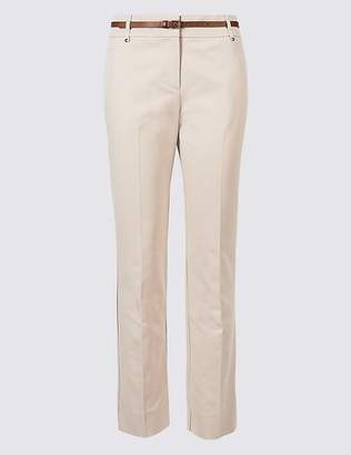 Marks and Spencer Belted Slim Fit Trousers
