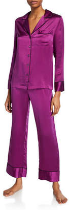 Neiman Marcus Basic Silk Satin Pajama Set