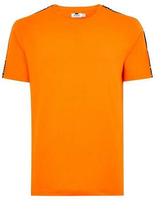 Topman Mens Orange Taping 'Estate' T-Shirt