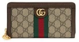 Gucci Ophida Canvas Zip-Around Wallet