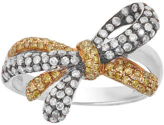 FINE JEWELRY LIMITED QUANTITIES 7/8 CT. T.W. White and Color-Enhanced Yellow Diamond Bow Ring