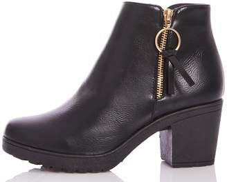 Next Womens Quiz Faux Cleated Sole Ring Ankle Boot