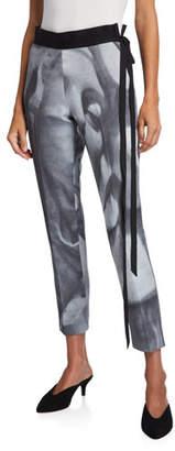 UNTTLD Bianca Face-Print Skinny Pants