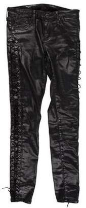 Adriano Goldschmied Coated Low-Rise Pants