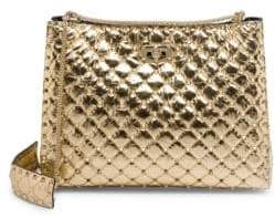 Valentino Rockstud Spike Quilted Leather Chain Shoulder Bag