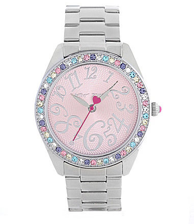 Betsey Johnson Bling Bling Time Multi Color Boyfriend Watch