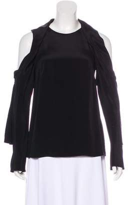 3.1 Phillip Lim Silk Cutout-Accented Top w/ Tags
