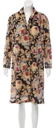 Dries Van Noten Printed Long Sleeve Dress
