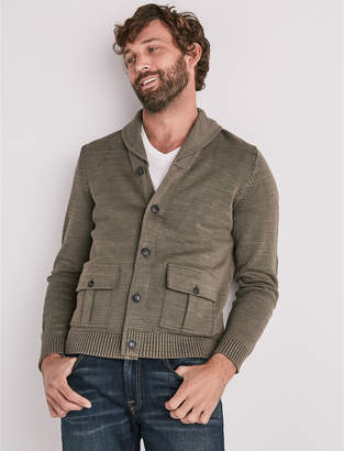 Lucky Brand MILITARY SHAWL COLLAR CARDIGAN