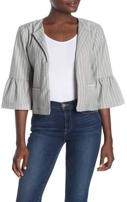 Cupcakes And Cashmere Canyon Stripe Bell Cuff Jacket