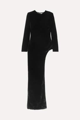 SemSem - Asymmetric Velvet Tunic - Black
