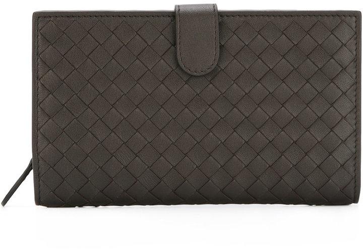 Bottega VenetaBottega Veneta interlaced leather continental wallet