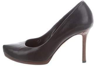 Gucci Leather Square-Toe Pumps Black Leather Square-Toe Pumps